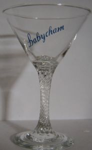Babycham Original Glasses - Martini Shape